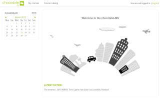 chocolateLMS starting page